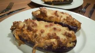 Receta de berenjenas rellenas de carne picada