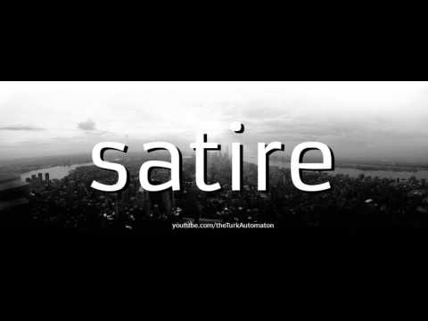 How to Pronounce satire in German