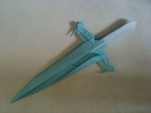 折り紙 ショートソード 折り方 (オリジナル) Origami sword Original