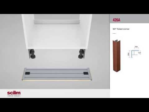 Montaje 3D Zócalos Rodapie de PVC + Aluminio en Muebles de Cocina ...