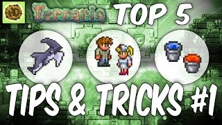 Terraria Top 5 Tips and Tricks | 1.3 Tutorial | Glitch | Life Hacks