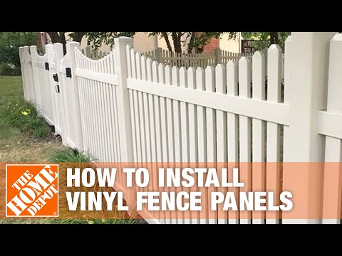 How to Install Vinyl Fence Panels | The Home Depot
