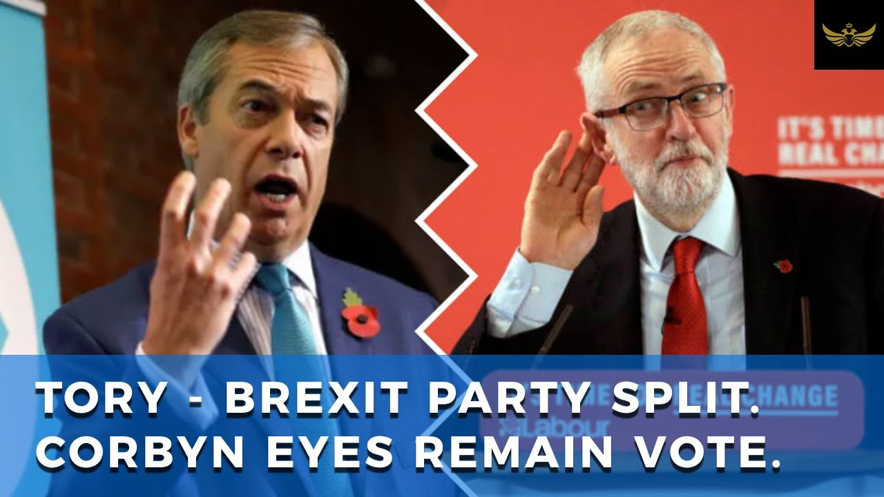 Tory - Brexit Party split Leave. Corbyn consolidates Remain.