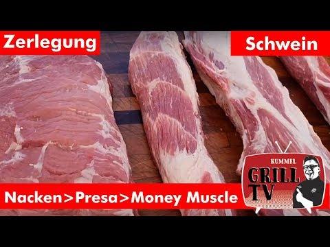 Nacken vom Schwein auslösen. >Presa> Money Muscle>>>>