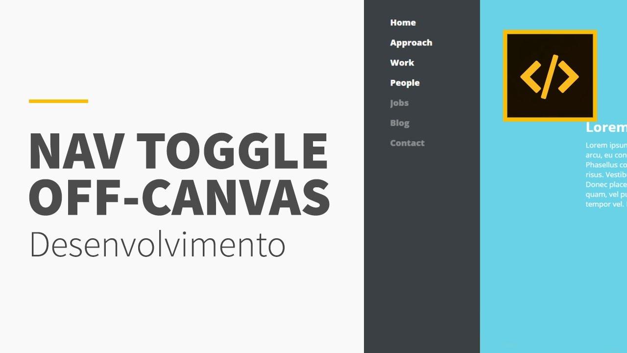 Menu off-canvas com JQuery • CSS3/HTML5/JS