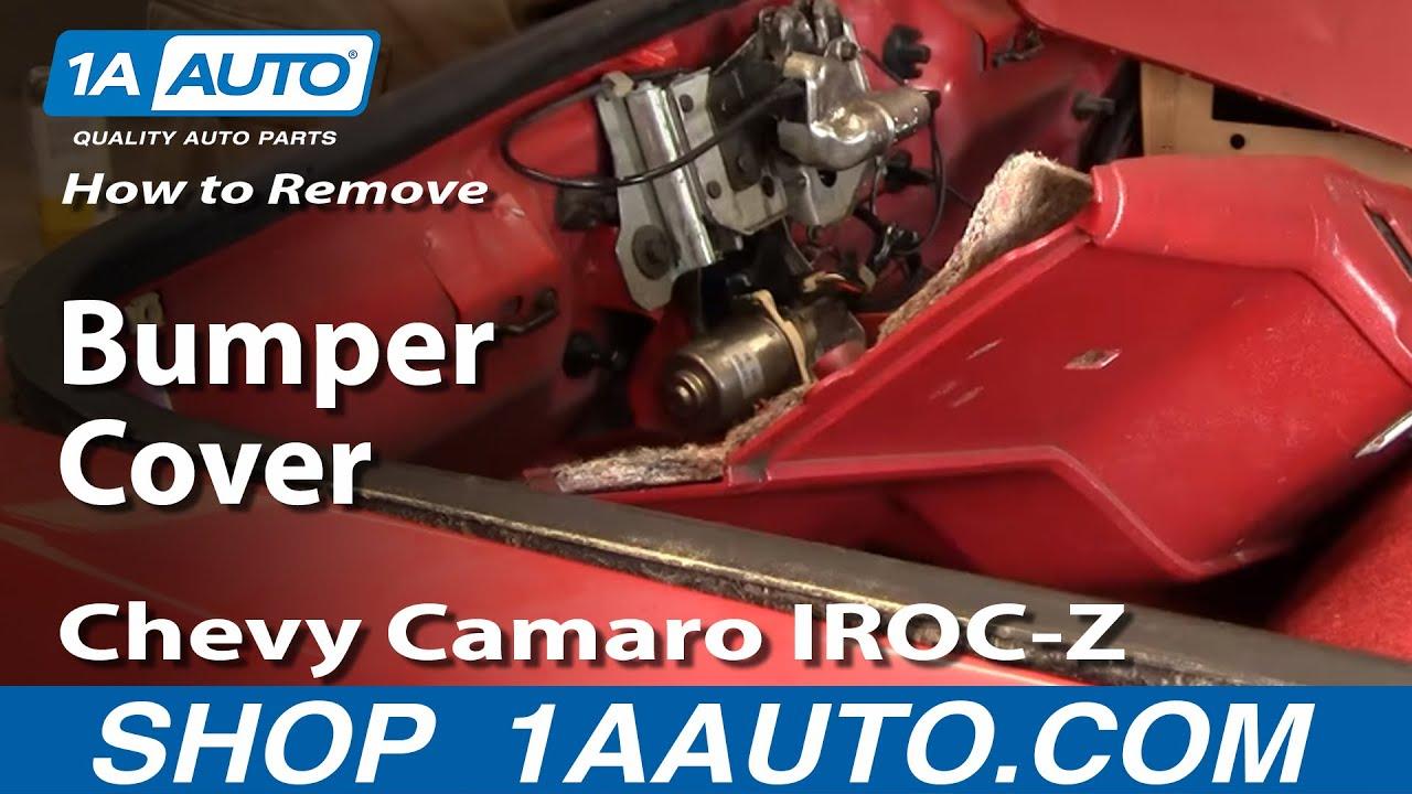How To Remove Rear Bumper Cover Chevy 82 92 Camaro Iroc Z