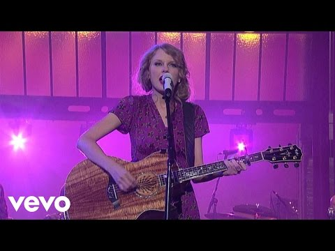 Taylor Swift - Back To December (Live on Letterman)
