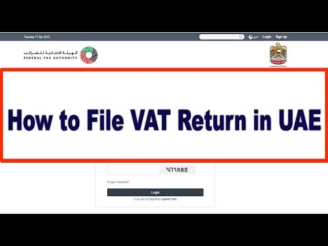 How to File VAT Return in UAE through FTA Portal