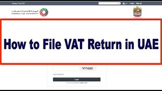 How to File VAT Return in UAE through FTA Portal