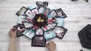 DIY Explosion Gift Box Storage Box Birthday Valentine's Gift Handmade Photo Album Gift with DIY