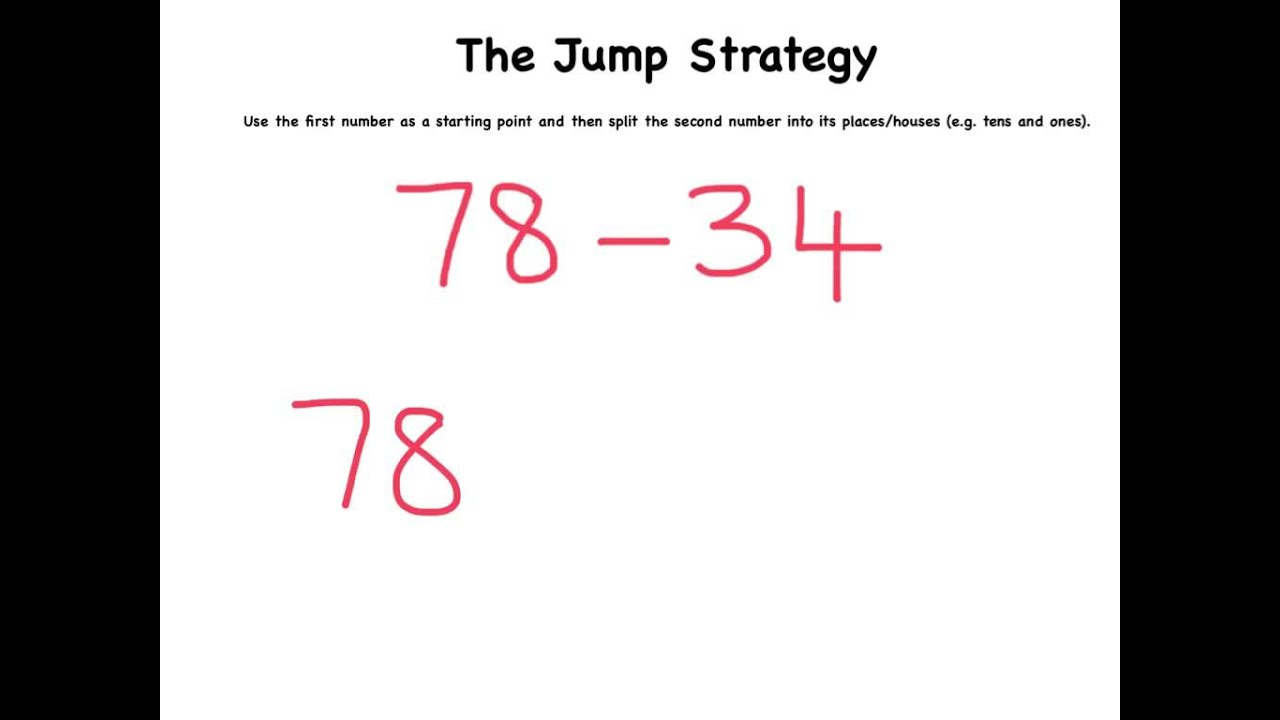 The Jump Strategy For Subtraction