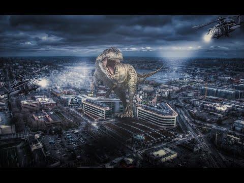Scary Dinosaur | Photoshop concept art tutorial