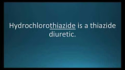 How to pronounce hydrochlorothiazide (Microzide) (Memorizing Pharmacology Flashcard)