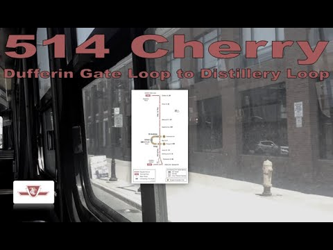 514 Cherry - TTC 1977-1981 UTDC CLRV 4166 (Dufferin Gate Loop to Distillery Loop)