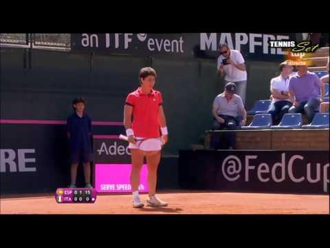 Carla Suarez Navarro vs Roberta Vinci Amazing Point HD Fed Cup Spain 2016