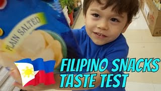 FILIPINO SNACKS TASTE TEST from SEAFOOD CITY - MUKBANG