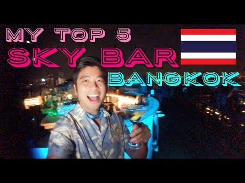 MY TOP ROOFTOP SKY BAR BANGKOK with NEW - King Power Mahanakhon Glass Skywalk 🍸🇹🇭