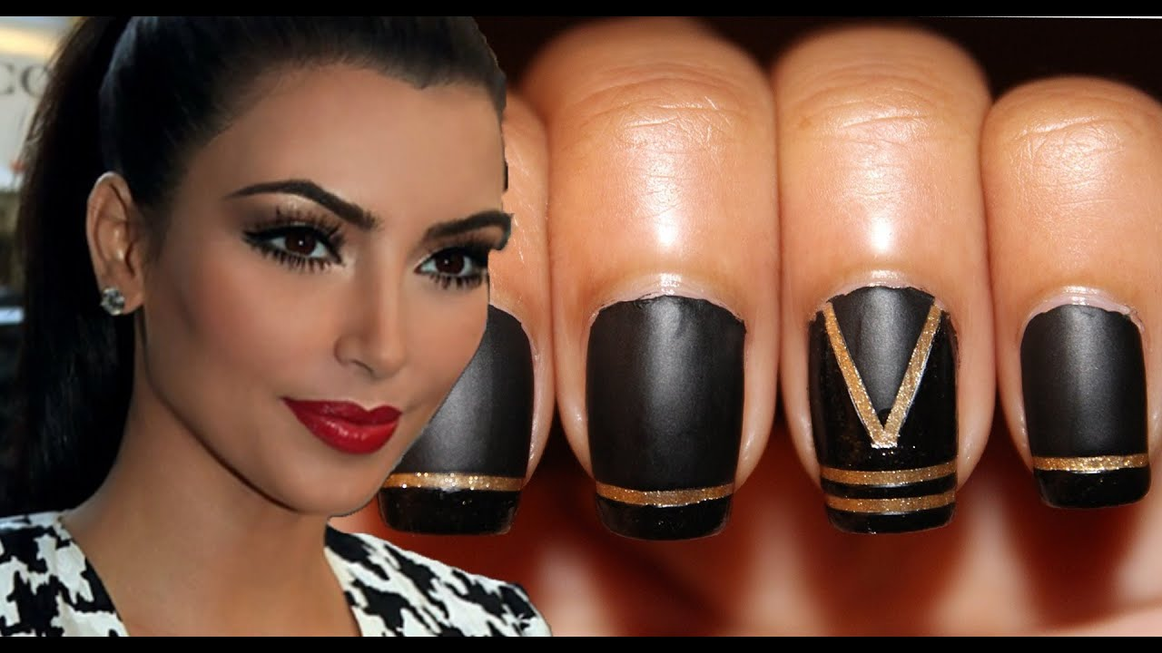 Kim Kardashian Inspired Nails (Collab w/ ElleLearyArtistry ...