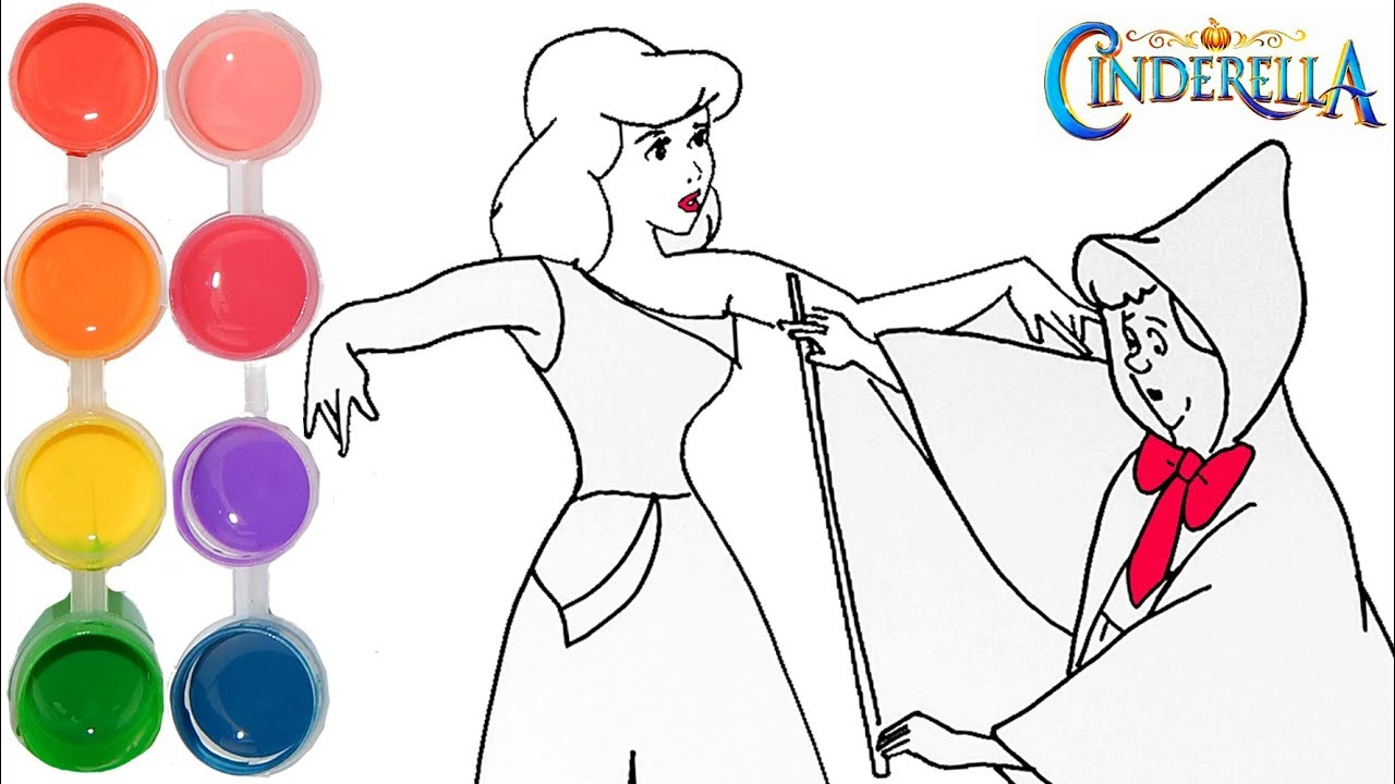 how to draw u0026 color cinderella disney princess drawing