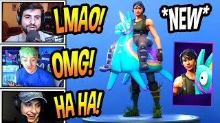 "STREAMERS REACT TO *NEW* ""YEE-HAW!"" SKIN! *EPIC* Fortnite FUNNY & SAVAGE Moments"