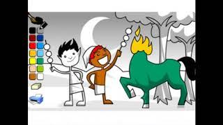 turma da mula sem cabeça colorindo a mula e seus amiguinhos #LendasBrasileiras