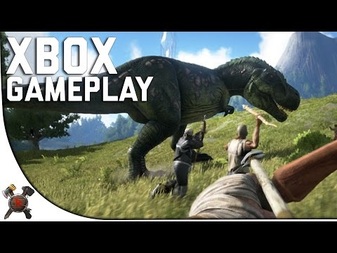 ARK CONSOLE XBOX ONE GAMEPLAY  - Ark Survival Evolved Xbox One Edition Gameplay (Part 1)