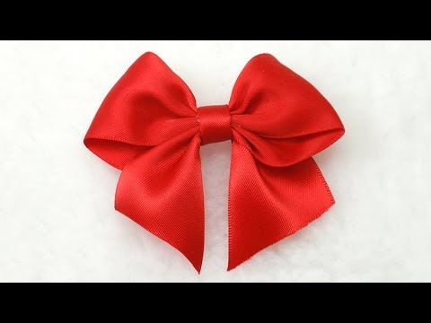 make simple easy bow diy ribbon hair bow tutorial bow 3 youtube