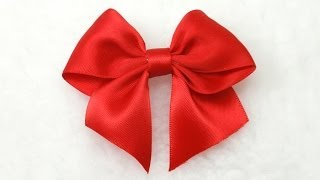 Repeat youtube video Make Simple Easy Bow, DIY, Ribbon Hair Bow, Tutorial, Bow #3