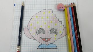 Shopkins Kooky Cookie Learn How To Draw With Paul
