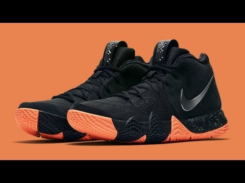 b3eec3a23dc7 Kyrie Irving 4 Black and Orange Shoe Unbox and Review - YouTube