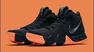 Kyrie Irving 4 Black and Orange Shoe Unbox and  Review