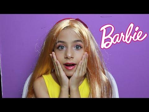 تحولت لباربي 🤷♀️  !!! Barbie Transformation Tutorial