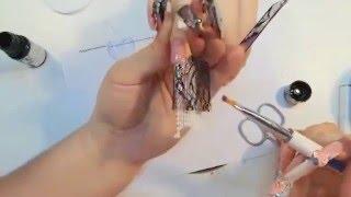 Перископ.Наращивание ногтей с применением кружева