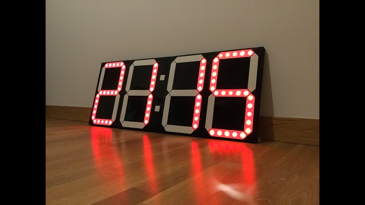 Diy Big Digital Clock Youtube
