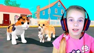 СИМУЛЯТОР МАЛЕНЬКОГО КОТЕНКА Веселое видео для детей детская игра ПРО КОТИКОВ детский летсплей