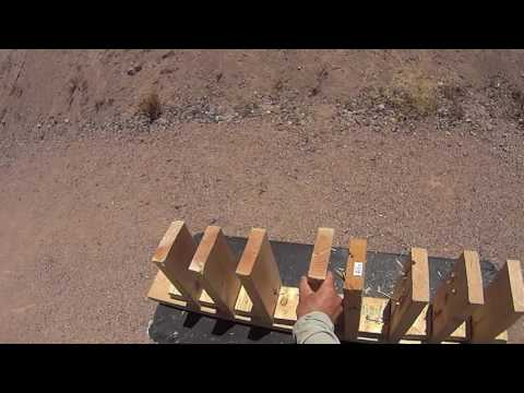 Penetration test of 9mm, .223/5.56 and 5.45mm in wall stud materials (2x6's)