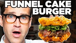 Bacon Cheeseburger Funnel Cake Taste Test