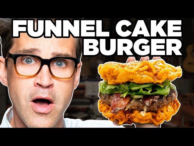Bacon Cheeseburger Funnel Cake Taste Test