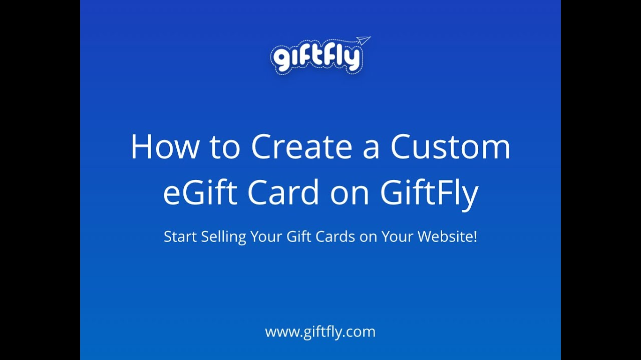 how to create an online gift card youtube