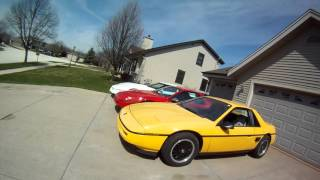 1988 yellow car 3800 supercharged 5 speed fiero swap