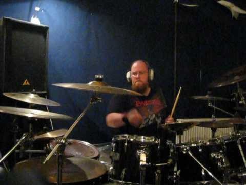 Nembience Towards Extinction drumcam at the rehearsal space in 2008.
