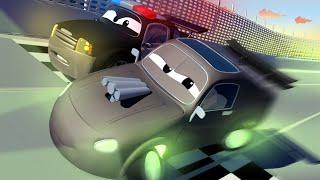 đội xe tuần tra - Chếc xe LẠ MẶT ĐẬU ở SÂN CHƠI - Thành phố xe 🚓 🚒 những bộ phim hoạt hình về xe tải