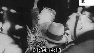 1930s Berlin, Charlie Chaplin Arrives at Berlin Central Train Station, Celebrity
