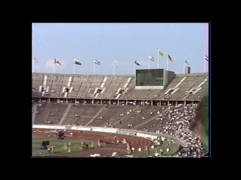 West-Berlin August 1989 –ISTAF-Sportfest Leichtathletik im Olympiastadion am 18.08.1989