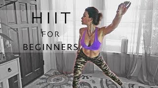 Beginner HIIT Full Body Workout Strength & Cardio & Weight Loss