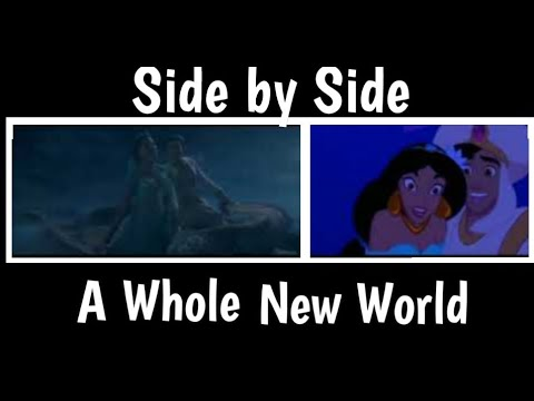 A Whole New World Side By Side | Aladdin 1992,2019