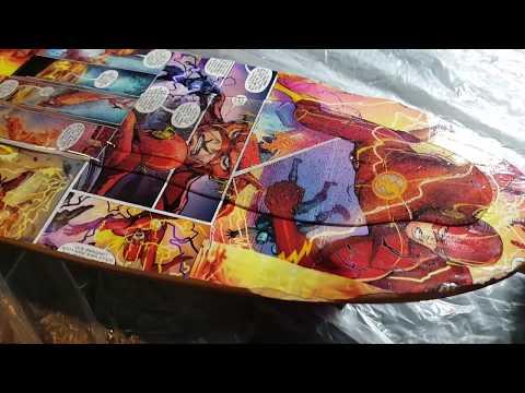Custom Comic Cruiser | comic book decoupage and epoxy resin cruiser board