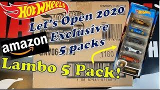 Let's Open Hot Wheels Amazon 5 Packs Bundles! Lamborghini !!!