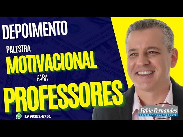 Palestrante Motivacional Famoso | Palestrante Fabio Fernandes