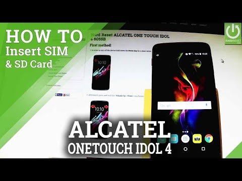How to Insert SIM and SD in ALCATEL ONE TOUCH IDOL 4